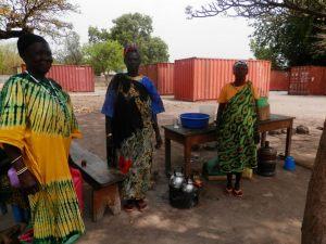 Tea ladies at the Rumbek Ministry of Education